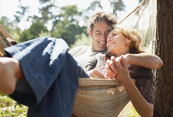 terapi Århus, par i hængekøje
